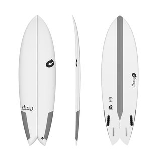 Surfboard TORQ Epoxy TEC Quad Twin Fish 5.8