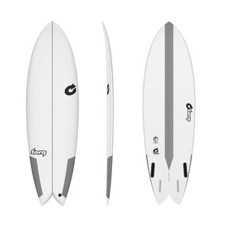 Surfboard TORQ Epoxy TEC Quad Twin Fish 6.4